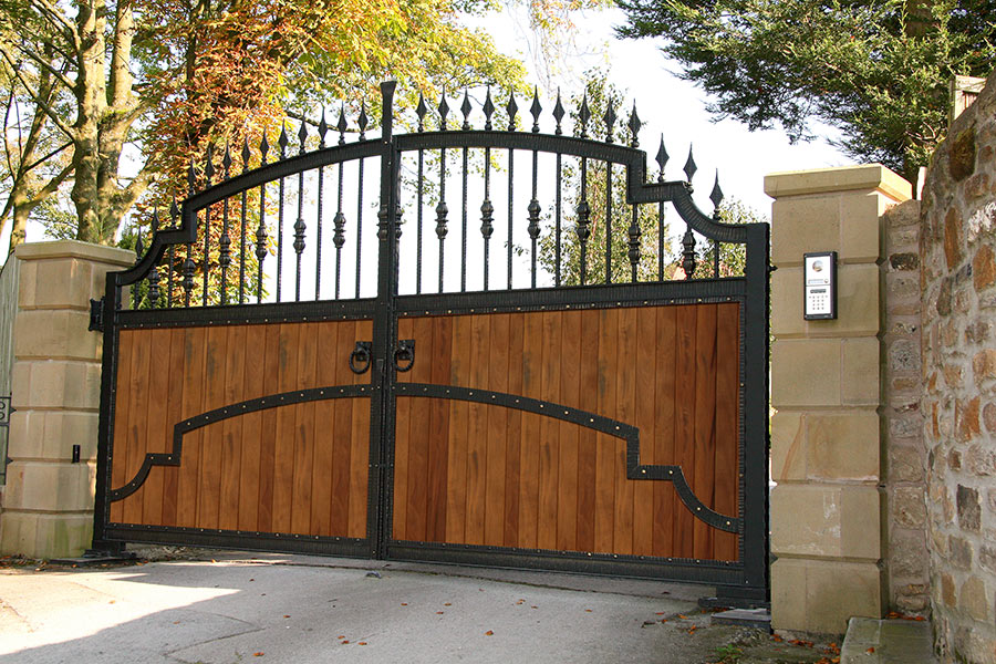 Apollo Hardwood Gates Wooden Driveway Gate Estate Gates