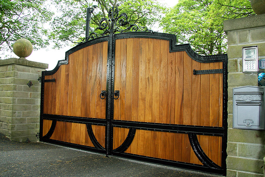 Apollo hardwood gates wooden driveway gate estate