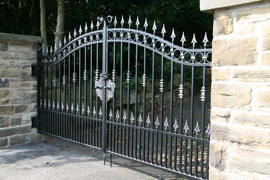 Hamilton wrought iron gates driveway gate estate uk
