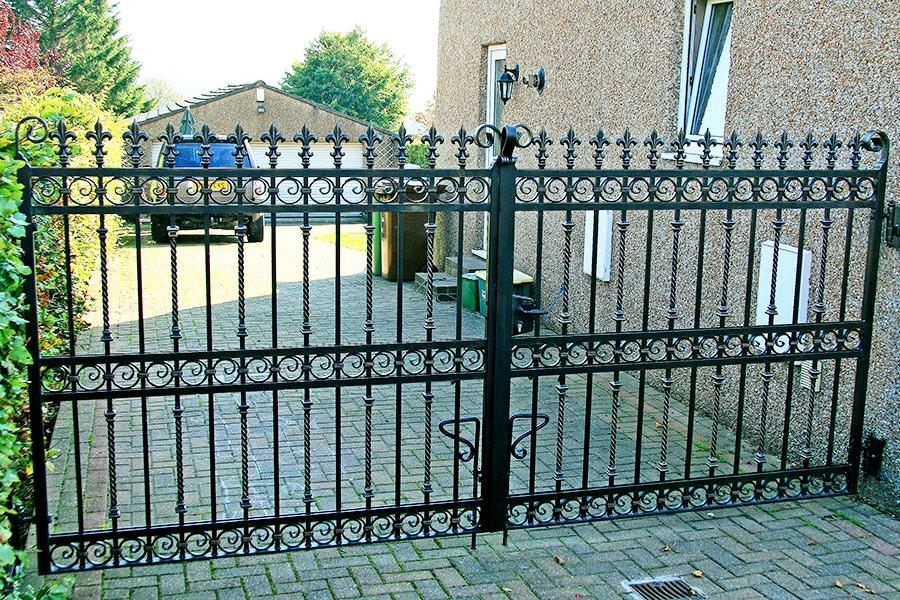 Newbury wrought iron gates driveway gate estate