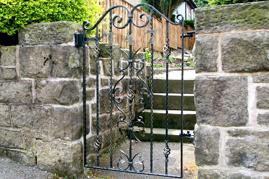 gate for garden steps