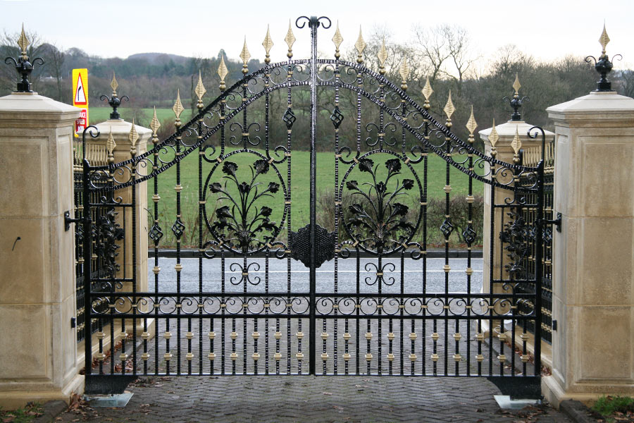 Somerton Wrought Iron Gates Driveway Gate Estate Gates