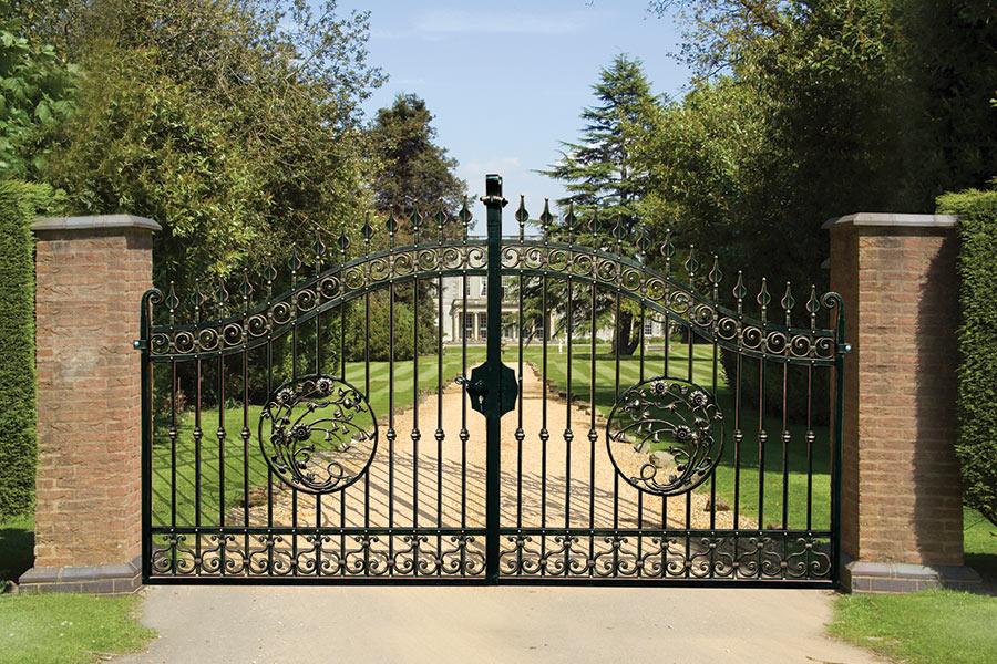 Huntingdon wrought iron driveway gates estate gate