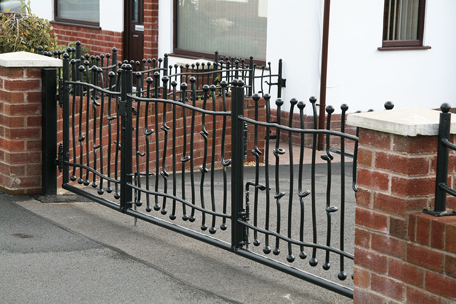 Small wrought iron driveway gates north valley forge