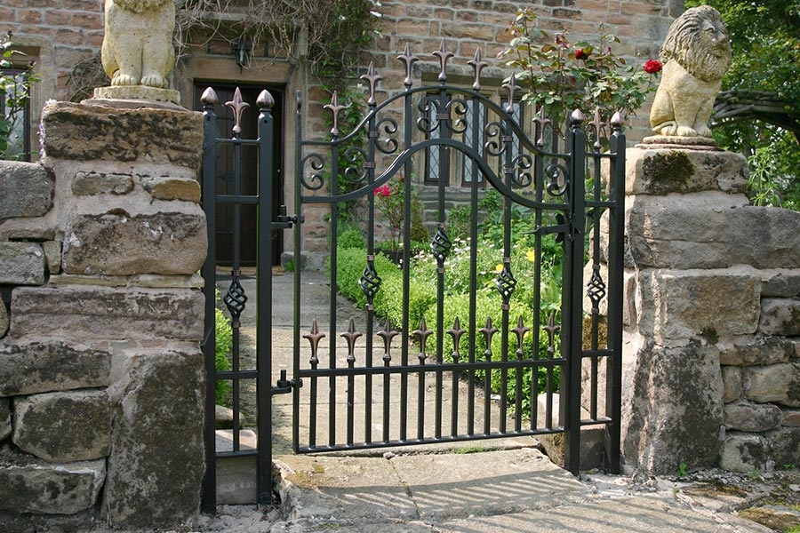 iron side entrance gate