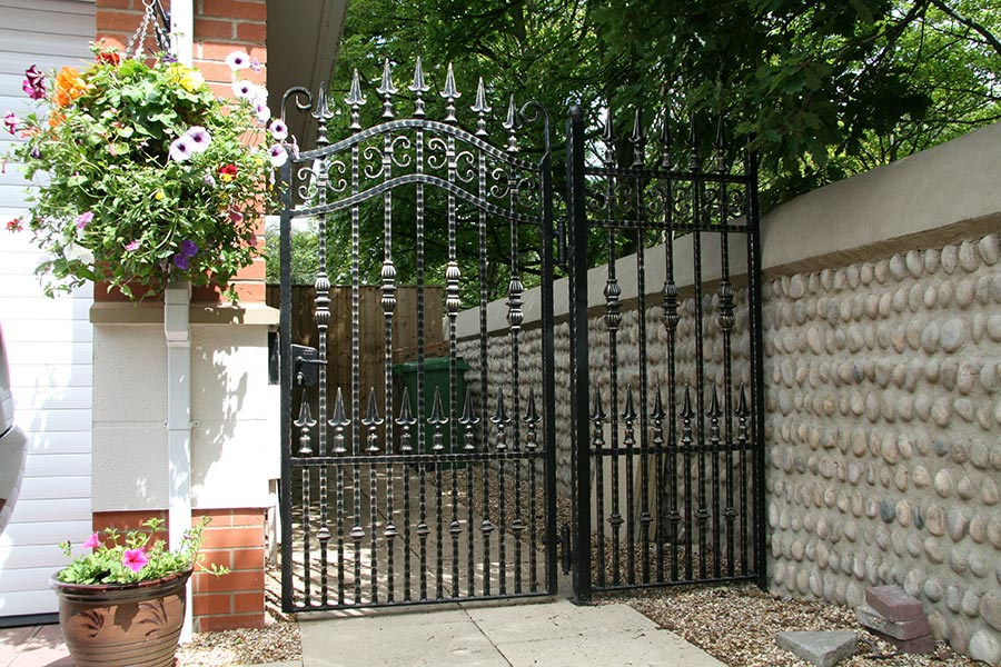 small iron entrance gate