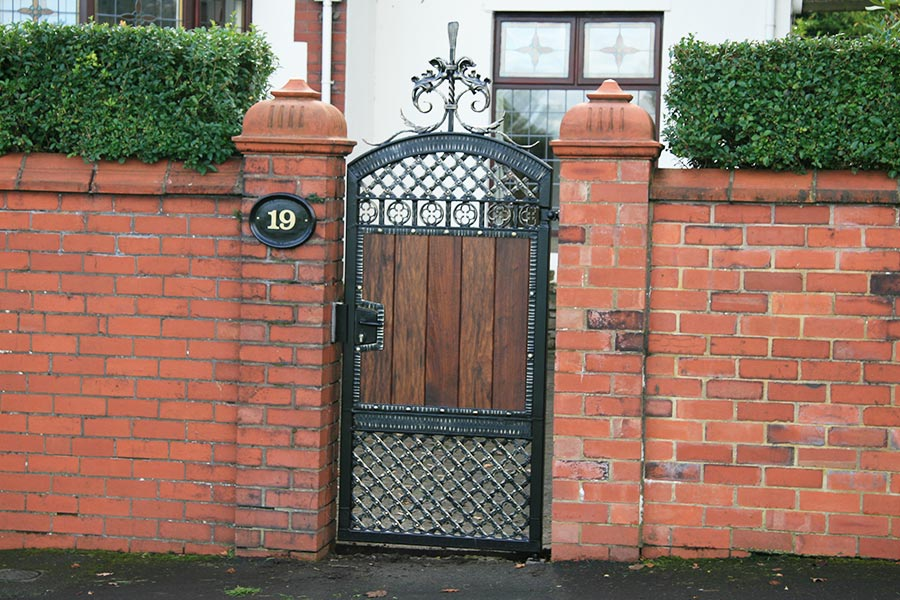 wooden side gate
