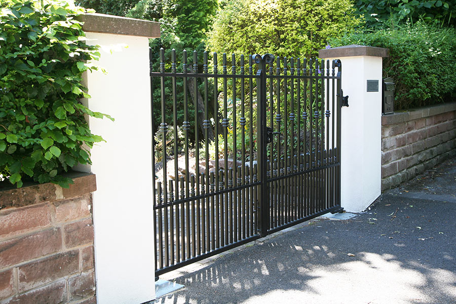 Small Wrought Iron Driveway Gates | North Valley Forge